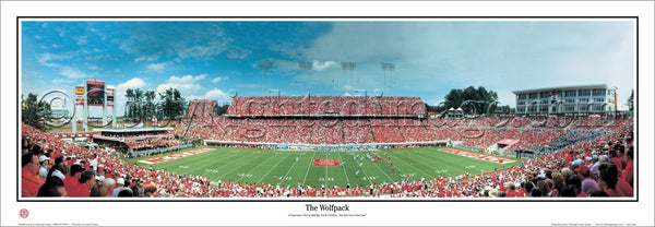 "NC State Football ""The Wolfpack"" Carter-Finley Stadium Gameday Panoramic Poster - Everlasting Images"