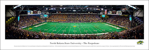 "North Dakota State Bison Football ""Fargodome"" Panoramic Poster Print - Blakeway Worldwide"