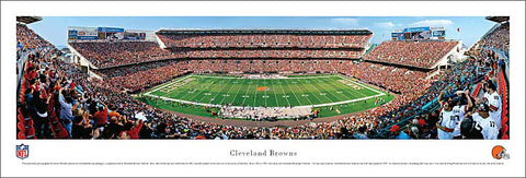 Cleveland Browns NFL Football Gameday Panoramic Poster Print - Blakeway Worldwide