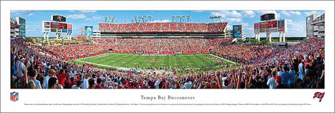 Tampa Bay Buccaneers Gameday Panoramic Poster Print - Blakeway Worldwide