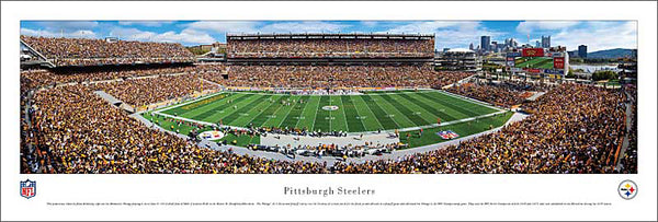 Pittsburgh Steelers Heinz Field Gameday Panoramic Poster Print - Blakeway 2010