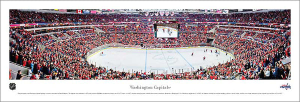 Washington Capitals Verizon Center NHL Game Night Panoramic Poster Print - Blakeway Worldwide
