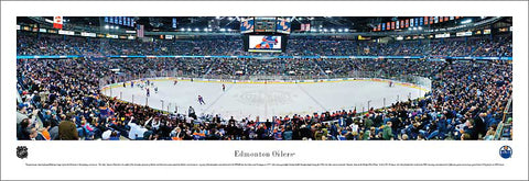 Edmonton Oilers Rexall Centre NHL Game Night Panoramic Poster Print - Blakeway