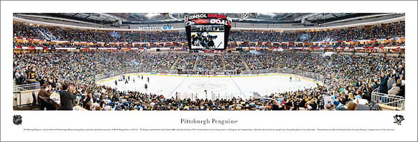 Pittsburgh Penguins Consol Energy Center NHL Game Night Panoramic Poster (2011) - Blakeway Worldwide