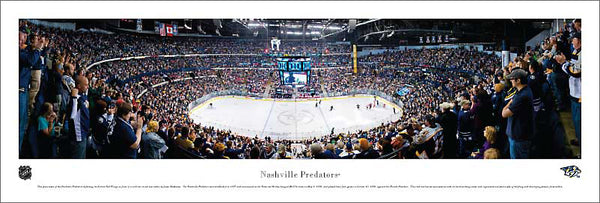 Nashville Predators Bridgestone Arena NHL Game Night Panoramic Poster Print (2011) - Blakeway Worldwide