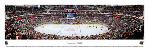 Minnesota Wild Xcel Energy Center NHL Game Night Panoramic Poster Print - Blakeway Worldwide