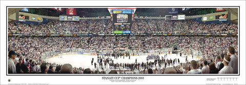 3075ff47f New Jersey Devils Stanley Cup Champions 2003 Panoramic Poster Print -  Everlasting Images