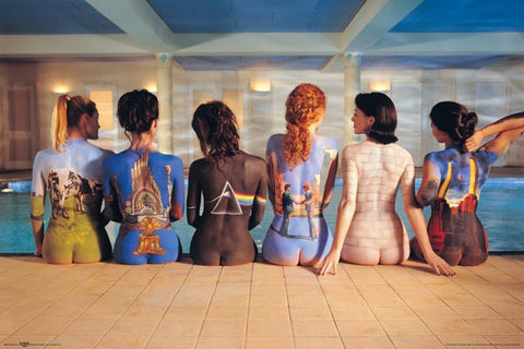 "Pink Floyd ""Back Catalog"" (Girls at Poolside) Classic Rock Music Poster - NMR Aquarius Images"