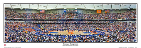 Syracuse Orangemen Basketball Carrier Dome Game Night (2002) Panoramic Poster Print - Everlasting Images