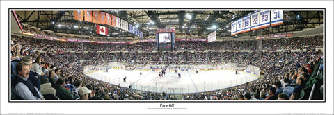 "New York Islanders ""Face Off"" Nassau Coliseum Game Night Panoramic Poster Print - Everlasting Images 2003"
