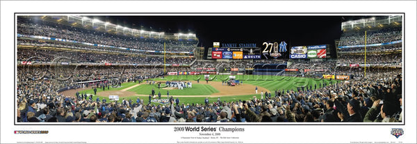 New York Yankees 2009 World Series Celebration Yankee Stadium Panoramic Poster Print - Everlasting Images (NY-261)