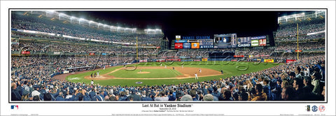 Derek Jeter Last At Bat in Yankee Stadium Premium Panoramic Poster Print - Everlasting Images 2014