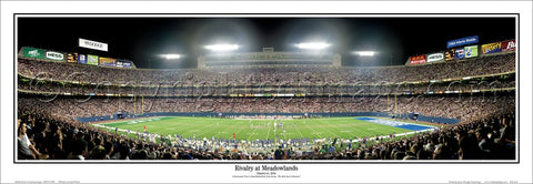 "New York Jets vs. NY Giants ""Rivalry at the Meadowlands"" Panoramic Poster Print (1999) - Everlasting Images"