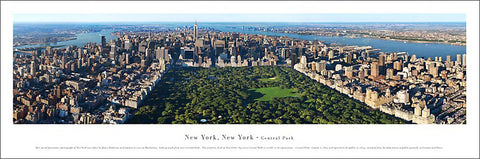 New York, NY Central Park Aerial Panoramic Poster Print - Blakeway Worldwide