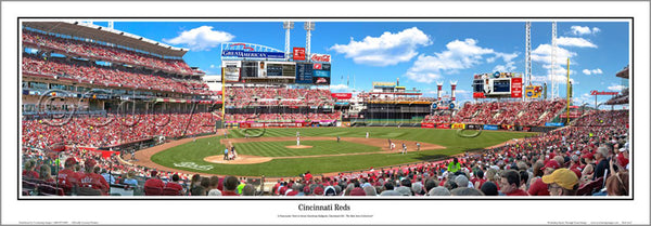 Cincinnati Reds Great American Ballpark Gameday Panoramic Poster Print - Everlasting Images