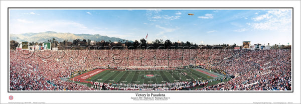 "Rose Bowl 2003 ""Victory in Pasadena"" (Oklahoma Sooners) Panoramic Poster Print - Everlasting Images"