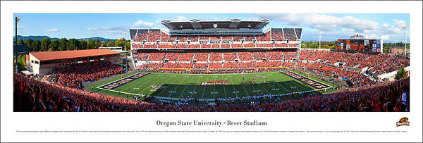 Oregon State Beavers Reser Stadium Gameday Panoramic Poster Print - Blakeway Worldwide