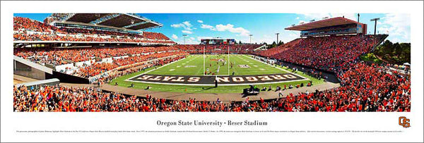 Oregon State Beavers Reser Stadium End Zone View Gameday Panoramic Poster Print - Blakeway 2011