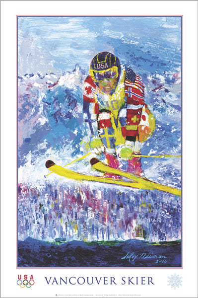 "Vancouver 2010 Winter Olympics ""Vancouver Skier"" Skiing Poster by LeRoy Neiman - Fine Art Ltd."