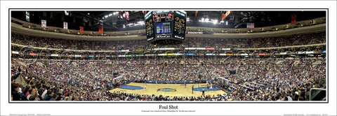 "Philadelphia 76ers ""Foul Shot"" Wells Fargo Center Panoramic Poster Print - Everlasting Images"