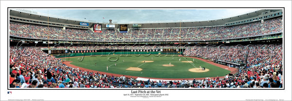 "Veterans Stadium ""Last Pitch at the Vet"" Philadelphia Phillies Panoramic Poster (2003) - Everlasting Images"