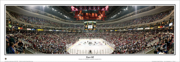 "Philadelphia Flyers ""Face Off"" Game Night Panoramic Poster Print - Everlasting Images Inc."