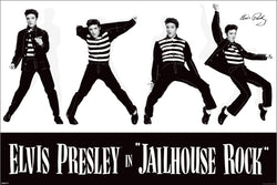 "Elvis Presley ""Jailhouse Rock"" Classic Rock and Roll Music Poster - Pyramid America"