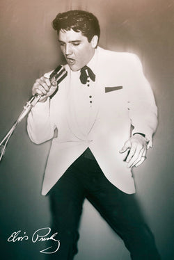 "Elvis Presley ""Crooner Classic"" (1950s) Rock and Roll Music Classic Poster - Pyramid America Inc."