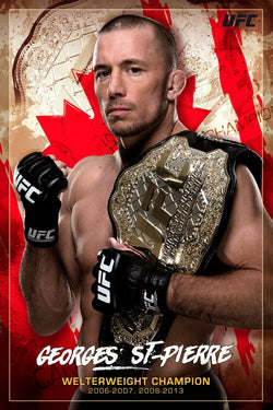 "Georges St-Pierre ""Canadian Crusher"" UFC MMA Champion Poster - Pyramid America"