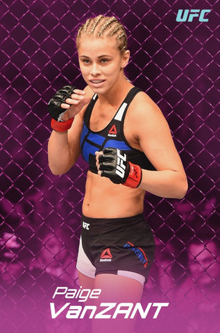 "Paige VanZant ""In The Octagon"" Official UFC MMA Action Poster - Pyramid America"
