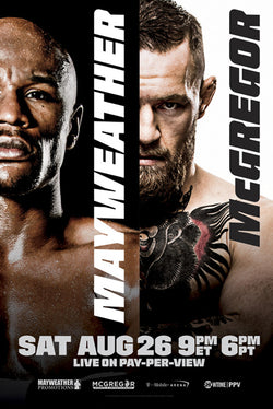 Floyd MAYWEATHER v Conor McGREGOR (8/28/2017) Official 24x36 Boxing Event Poster - Pyramid America