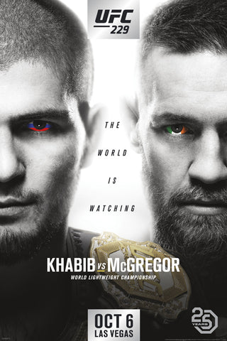 UFC 229 Khabib vs Conor McGregor (Las Vegas 10/6/2018) Official 24x36 Event Poster - Pyramid America