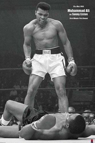"Muhammad Ali ""Liston Knockout 1965"" (Vertical) Boxing Poster - Pyramid"