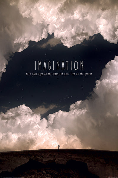 Imagination (Magical Skies, Unlimited Potential) Inspirational Motivational Wall Poster - Pyramid International