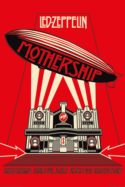 Led Zeppelin Mothership (2007) Album Cover Art Rock Music Poster - Pyramid International (UK)