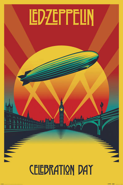 Led Zeppelin Celebration Day (2007) Rock Music Movie Poster Art Poster - Pyramid International (UK)