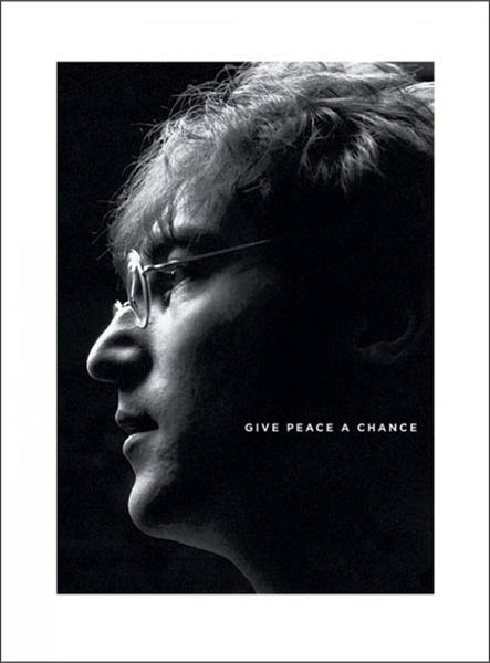 "John Lennon ""Give Peace a Chance"" Premium Portrait Print - Pyramid (UK)"