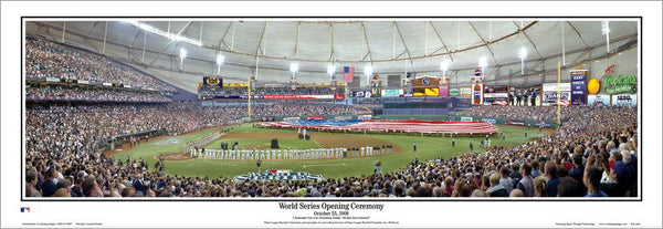 Tampa Bay Rays Tropicana Field 2008 World Series Panoramic Poster Print - Everlasting Images