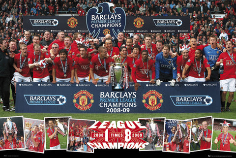 "Manchester United FC 2009 EPL Champions ""Celebration"" Poster - GB Eye"