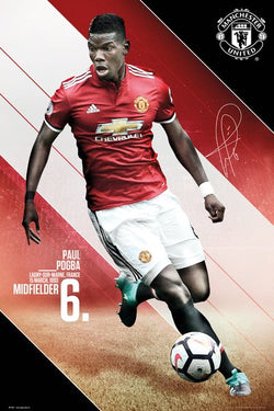 "Paul Pogba ""Ferocious"" Manchester United FC Signature Series Official EPL Poster - GB Eye 2017/18"