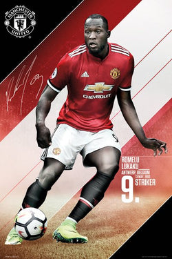 "Romelu Lukaku ""Ferocious"" Manchester United FC Signature Series Official EPL Poster - GB Eye 2017/18"