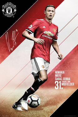 Nemanja Matic Manchester United FC Signature Series Official EPL Poster - GB Eye 2017/18