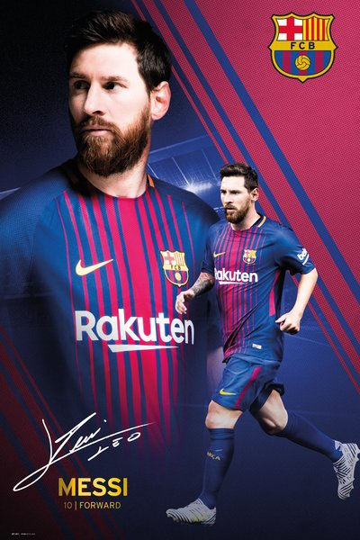 "Lionel Messi ""The Legend"" FC Barcelona Soccer Signature Series Official Poster - GB Eye 2018"