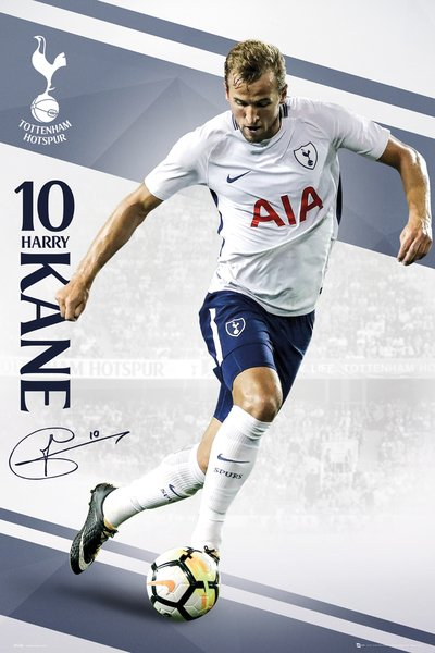 "Harry Kane ""Domination"" Tottenham Hotspur FC Official EPL Soccer Football Poster - GB Eye 2017/18"