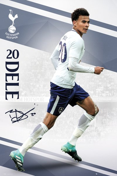 "Dele Alli ""Domination"" Tottenham Hotspur FC Official EPL Soccer Football Poster - GB Eye 2017/18"