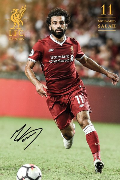 "Mohamed Salah ""Ferocious"" Signature Series Liverpool FC Official EPL Soccer Poster - GB Eye 2017/18"