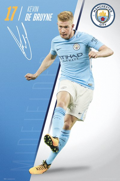 "Kevin De Bruyne ""Superstar"" Manchester City FC Official EPL Football Poster - GB Eye 2017/18"