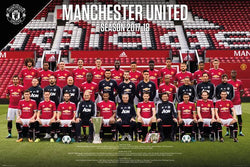Manchester United FC Official Team Portait 2017/18 EPL Poster - GB Eye (UK)