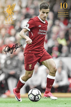 "Philippe Coutinho ""Signature Series"" Liverpool FC Official EPL Soccer Poster - GB Eye 2017/18"