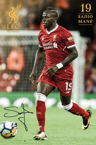 "Sadio Mane ""Sensation"" Signature Series Liverpool FC Official EPL Soccer Poster - GB Eye 2017/18"